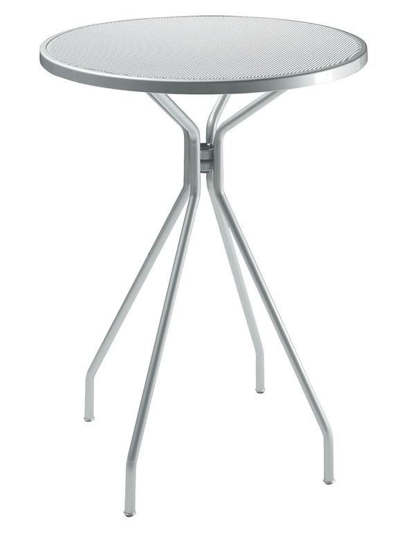 Cambi a per bar e ristoranti tavolo alto in metallo per for Tavolo tondo alto