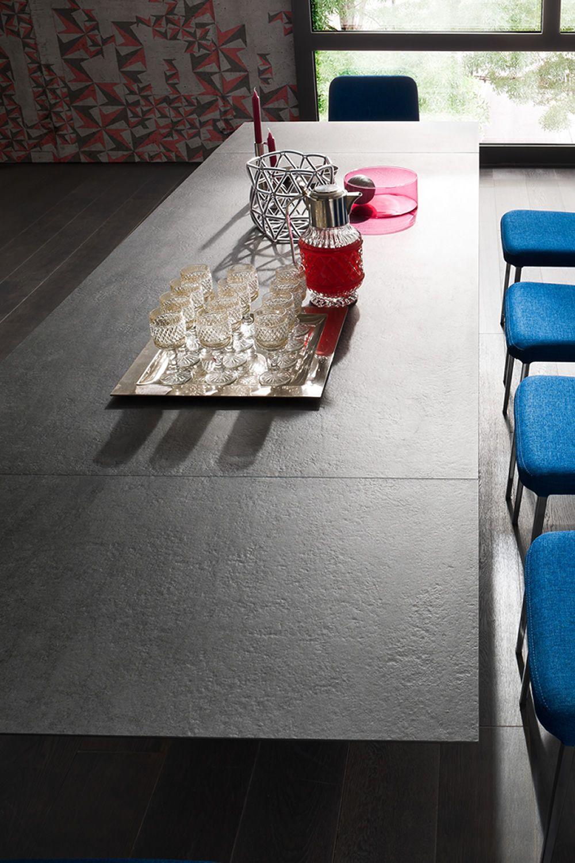 akille big ausziehbarer tisch aus holz mit platte in. Black Bedroom Furniture Sets. Home Design Ideas