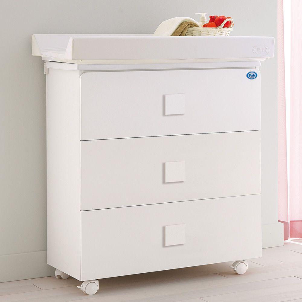 Zoom f baignoire table langer pali avec 3 tiroirs en - Table a langer en bois avec baignoire ...