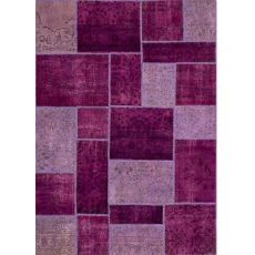Antalya Violet - Violeter Teppich aus reiner Schurwolle, handgeknüpft