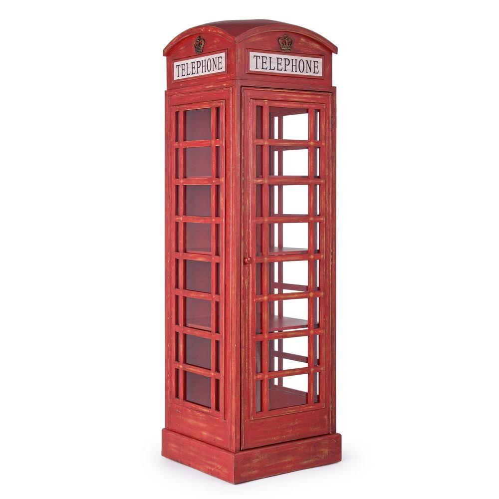 Telephone credenza di design a forma di cabina del for Cabina di legno