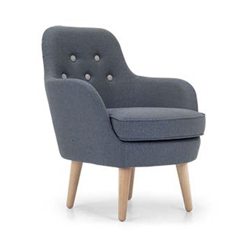 Cornell poltrona moderna domingo salotti con gambe in legno disponibile in tessuto pelle o - Poltrona moderna design ...