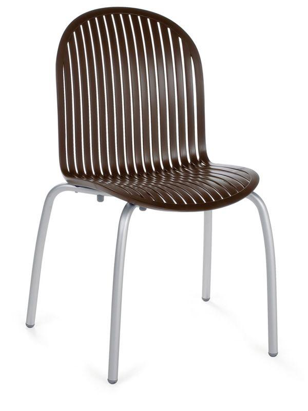 Ninfea dinner chaise en aluminium et r sine empilable - Chaise en couleur ...