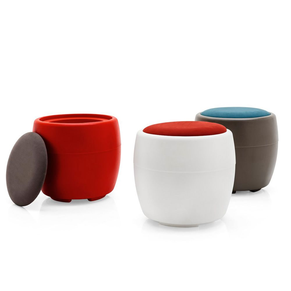 Pouf Rosso Ecopelle Cobalto Outlet : Cb candy pouf contenitore connubia calligaris in