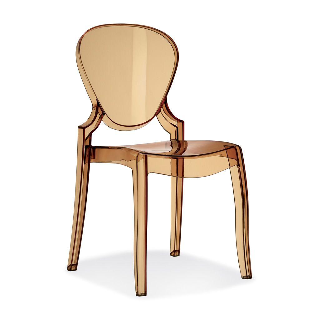 Queen 650 chaise pedrali de design en polycarbonate for Chaise de couleur