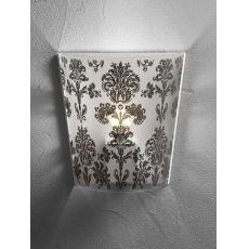 Babette P - Moderne Wandlampe aus Polycarbonat, Lampenschirm mit Dekoration