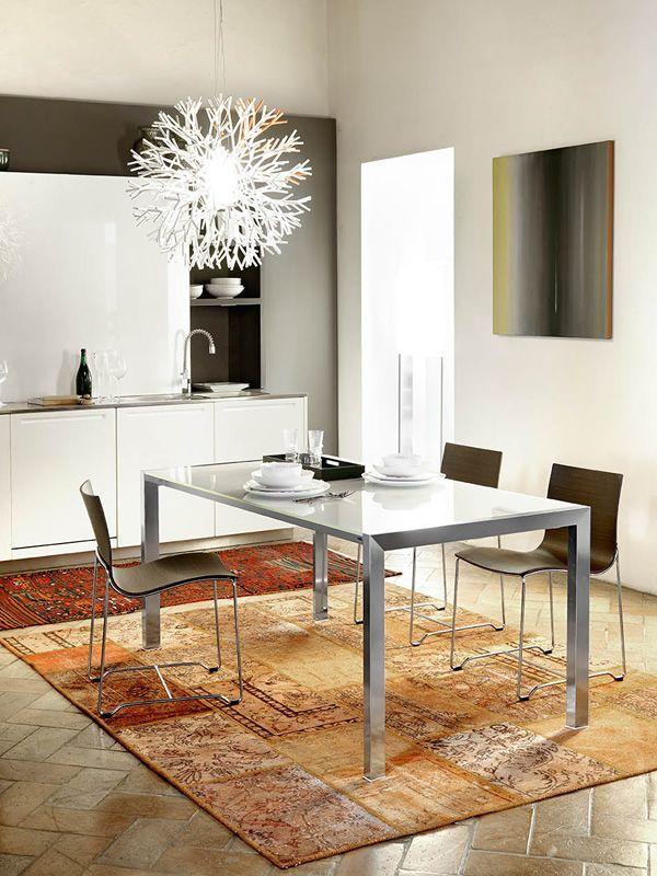 md014 moderner tisch aus metall. Black Bedroom Furniture Sets. Home Design Ideas
