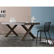 CS4083-R Two - Calligaris wood table, 180x100 cm, extendable