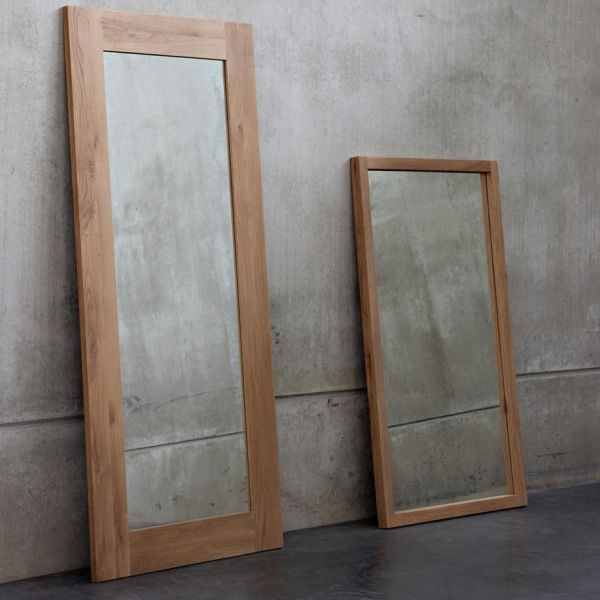 LF - Miroir avec cadre en chêne,disponible en différentes hauteurs ...