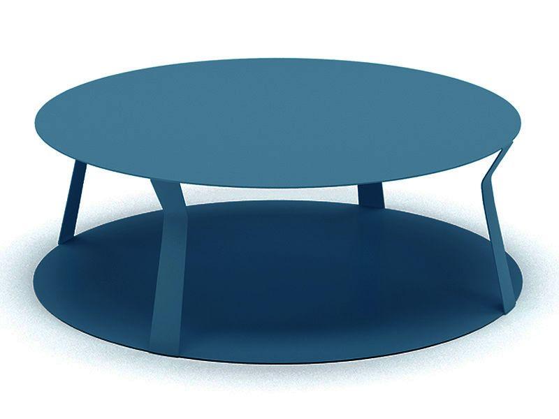 freeline2: table design ronde en métal, disponible en plusieurs