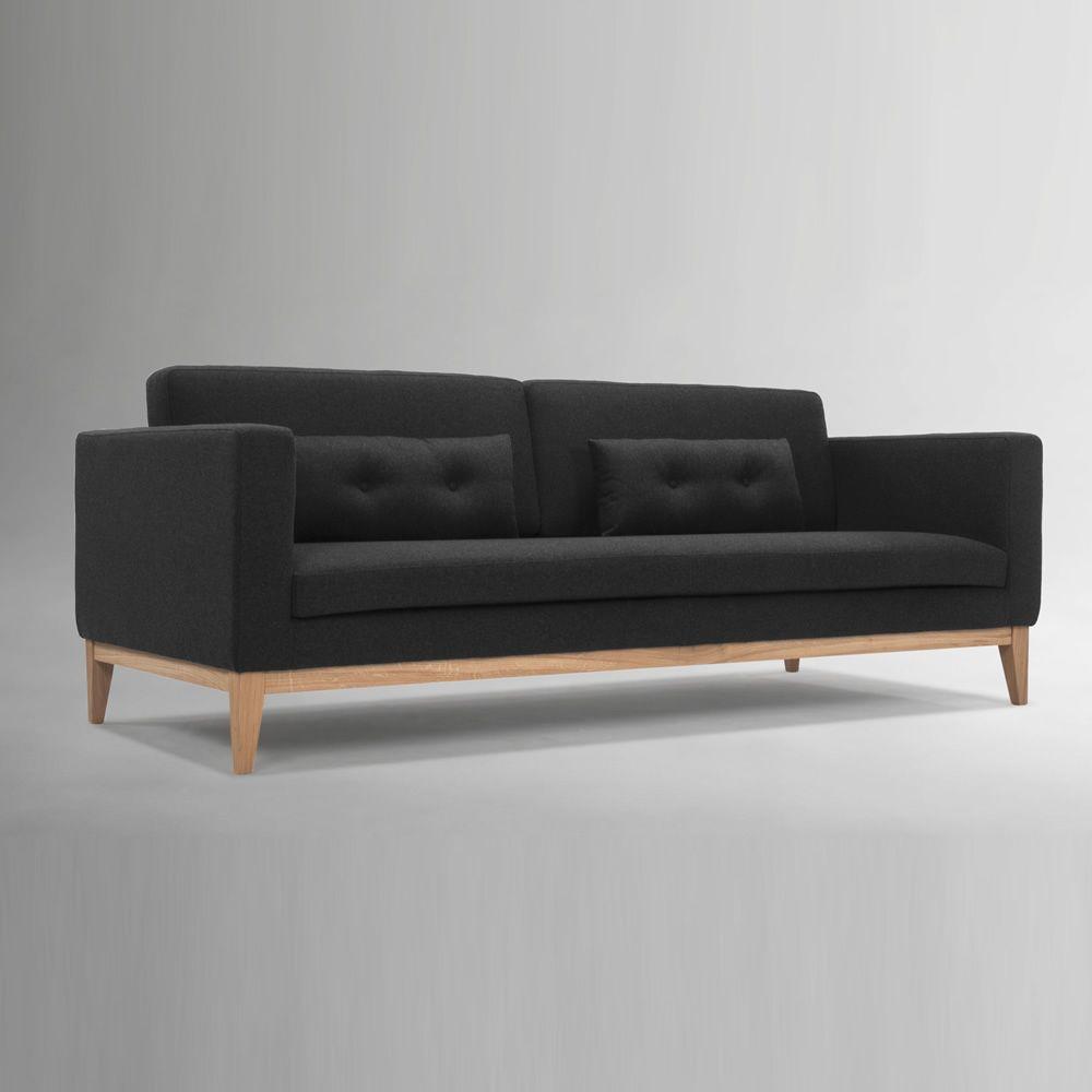 Day divano con struttura e piedi in legno imbottito e rivestito in tessuto - Divano ikea con struttura in legno ...