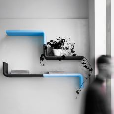 Liquorice - B-Line modular shelf, in polyethylene, available in different colours