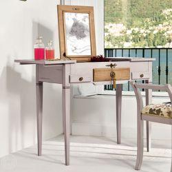 Lili 1495 meuble coiffeuse classique tonin casa en bois for Meuble coiffeuse avec miroir