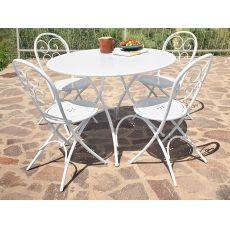 Pigalle P - Tavolo Emu in metallo per giardino, pieghevole, piano in diverse finiture