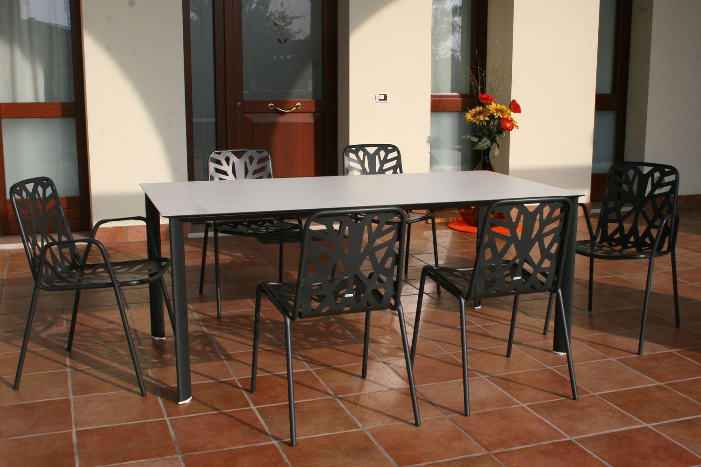 Rig87 tavolo in alluminio piano in hpl 185 x 95 cm for Tavolo hpl