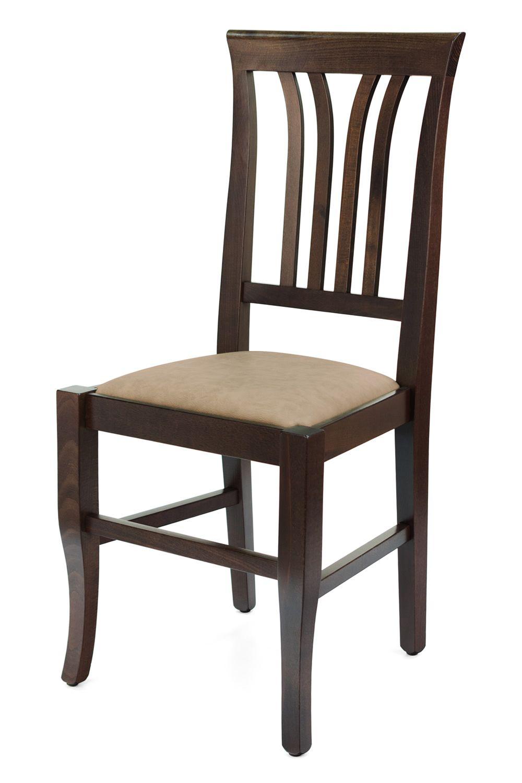 Mu47 bis per bar e ristoranti sedia rustica in legno per for Sedie similpelle