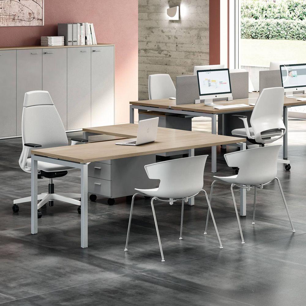 Idea ca 10 scrivania da ufficio con penisola struttura for Ufficio 10