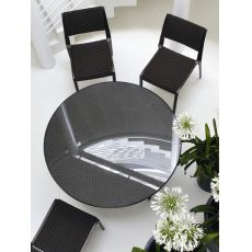 Open-WT - Emu table made of metal and synthetic rattan, several shapes and measures