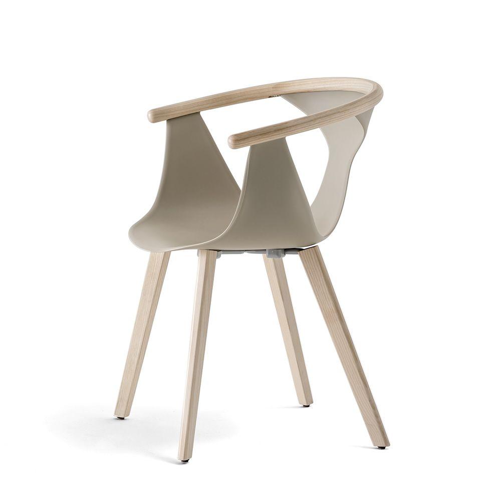 Fox 3725 - Stuhl Pedrali aus Holz und Polypropylen   Sediarreda.com