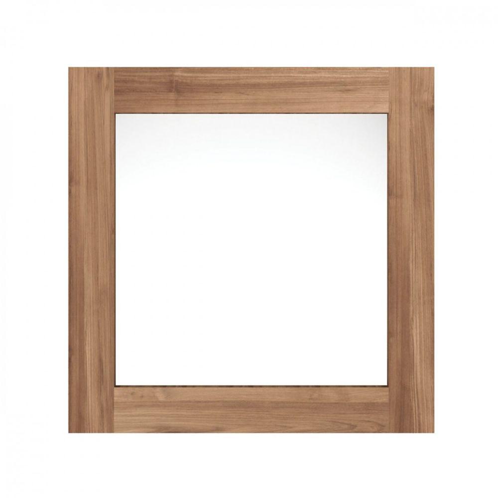 Utilitle m miroir mural ethnicraft avec cadre en bois for Miroir avec cadre en bois