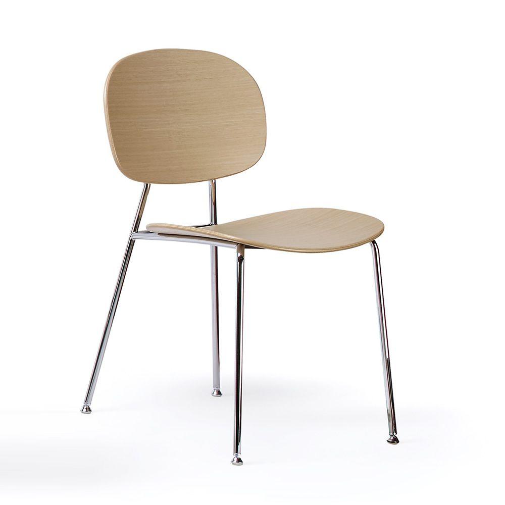tondina stuhl infiniti aus metall sitz und r ckenlehne aus holz in verschiedenen farben auch. Black Bedroom Furniture Sets. Home Design Ideas