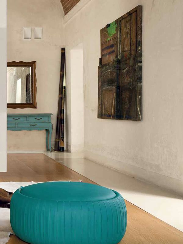 pouf pliss 7335 pouf rotondo tonin casa in similpelle con contenitore diversi colori e. Black Bedroom Furniture Sets. Home Design Ideas