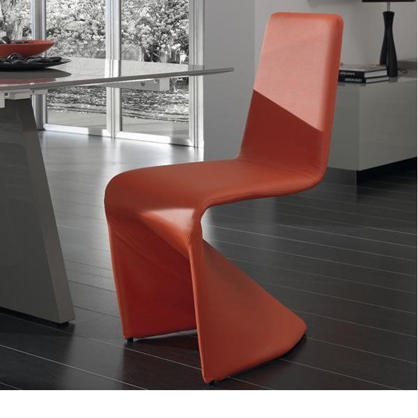 Kasper chaise design en simili cuir plusieurs couleurs for Chaises en cuir design