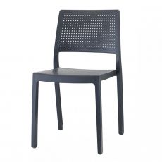 Emi 2343 - Technopolymer bar chair, stackable, available in several colours, for outdoor