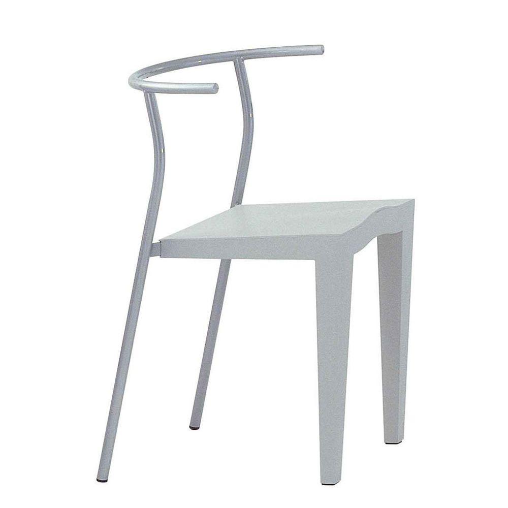 Dr glob sedia kartell di design impilabile in metallo for Sedia design kartell