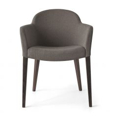 CB1110 Gossip - Connubia - Calligaris wooden armchair with armrest, padded seat, different colours available