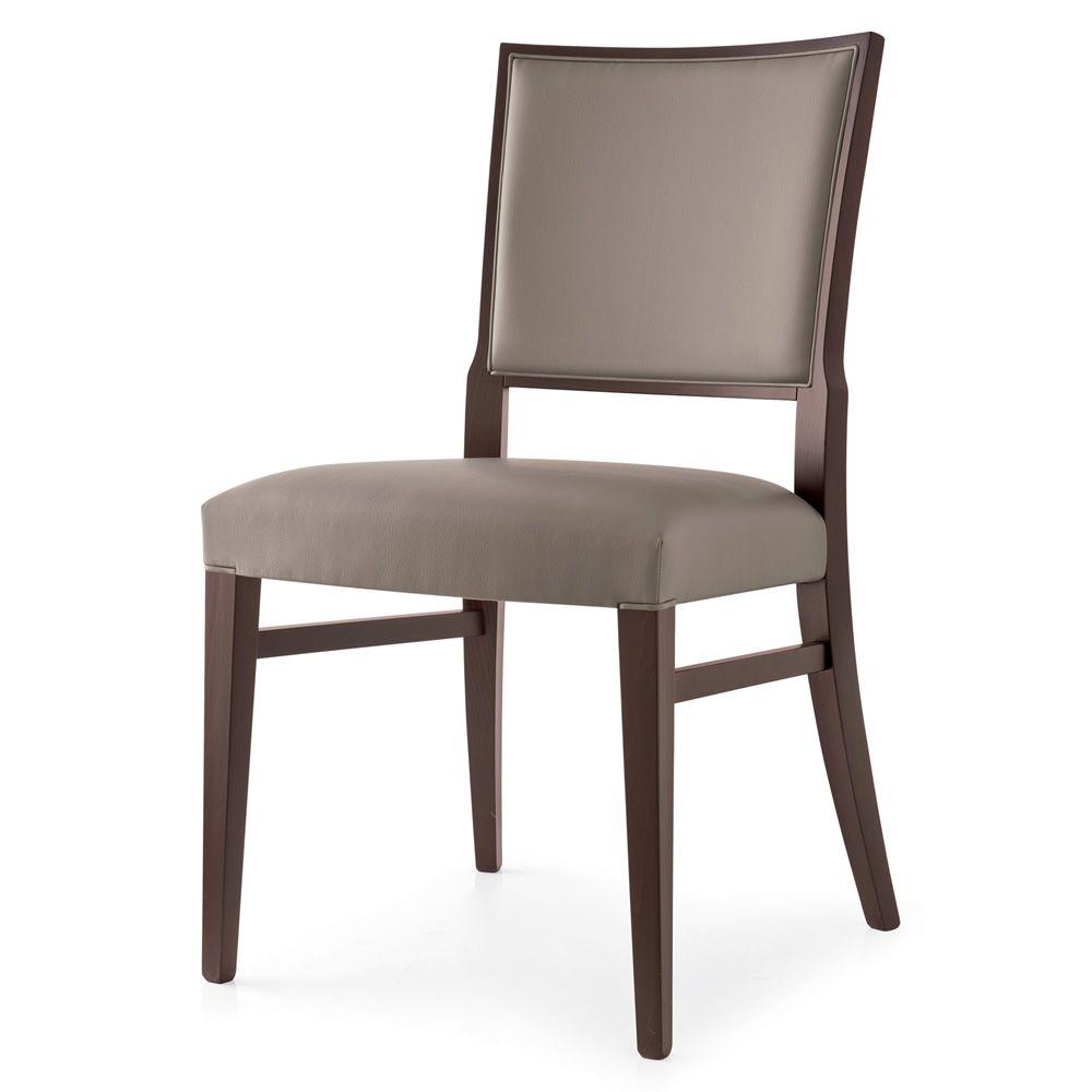 510 Chaise Moderne En Bois Recouverte En Tissu En