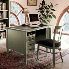 Mason 1295 - Tonin Casa classic writing desk made of wood with doors and drawers, different finishes available
