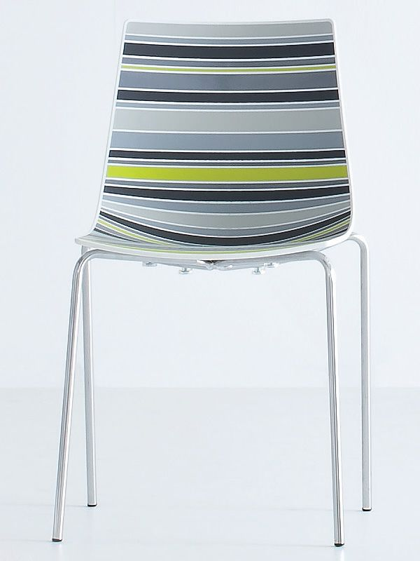 Colorfive sedia di design in metallo e tecnopolimero for Sedia ufficio gialla