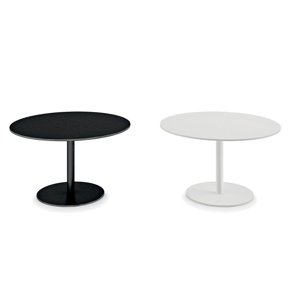 round runder beistelltisch infiniti aus metall platte aus laminat fenix oder corian in. Black Bedroom Furniture Sets. Home Design Ideas