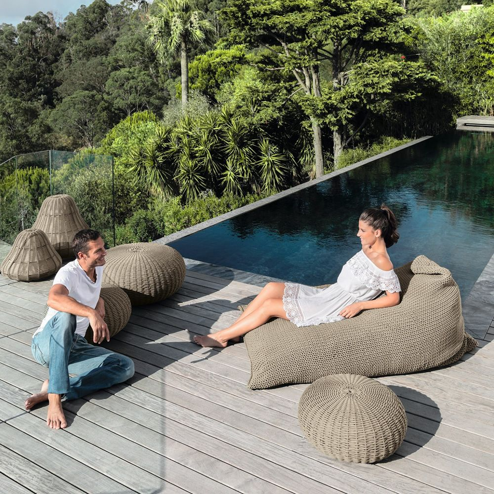 jackie pouf pour jardin en corde sediarreda. Black Bedroom Furniture Sets. Home Design Ideas
