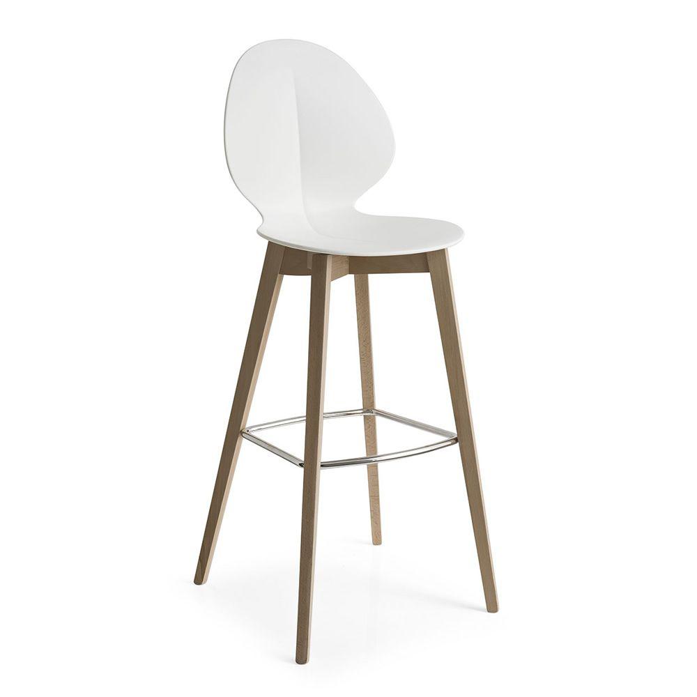 En bois avec assise en polypropyl ne blanc hauteur assise 80 5 cm - Mousse pour assise canape ...