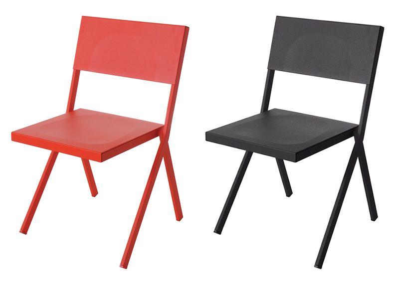 Mia sedia emu in metallo per giardino impilabile sediarreda