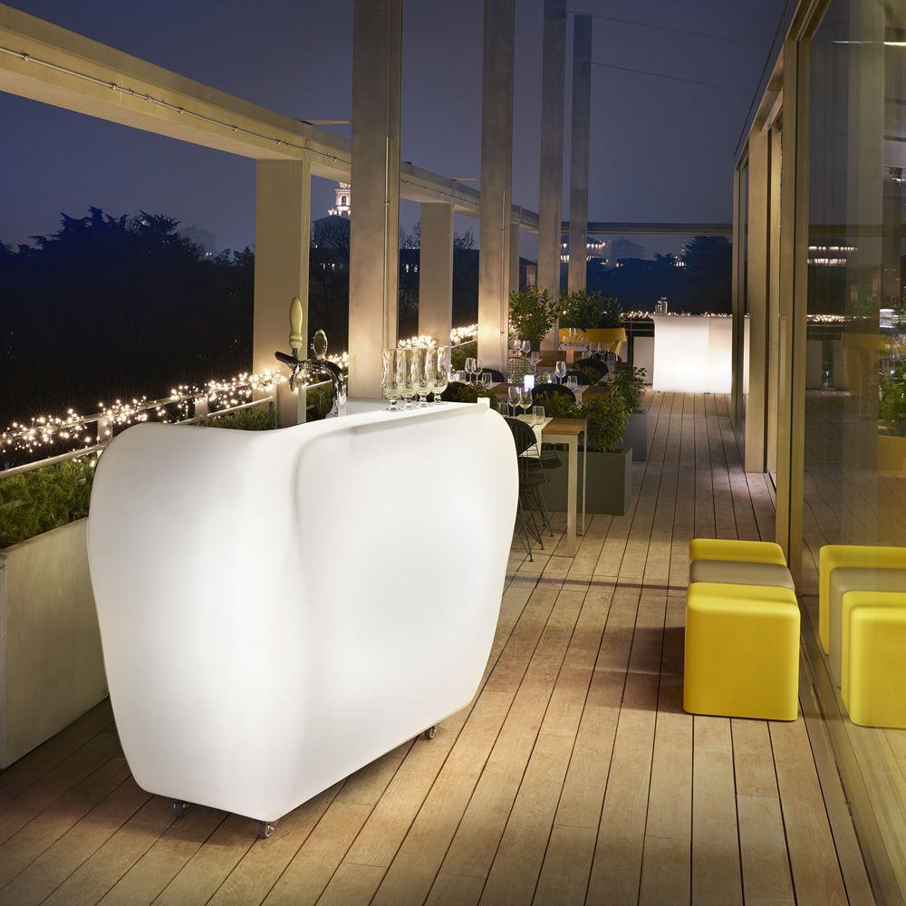 Mobile Bar Per Esterno roller bar - bancone bar in polietilene, con illuminazione