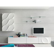Leaves H - Tonin Casa living room furniture made of lacquered MDF, different colours available