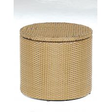 Basket - Pouf-contenitore-tavolino Emu in rattan sintetico