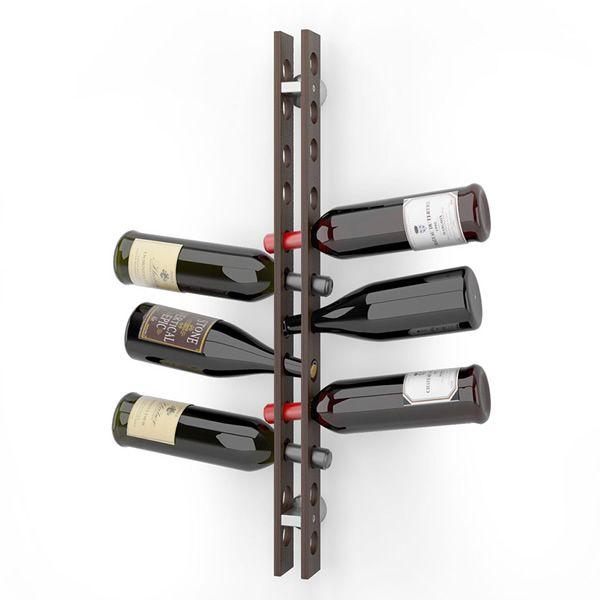 Cb5052 arsenal portabottiglie connubia calligaris in legno da fissare a parete sediarreda - Portabottiglie a parete ...