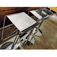 Click - Sgabello girevole regolabile in altezza, in metallo, diverse sedute disponibili