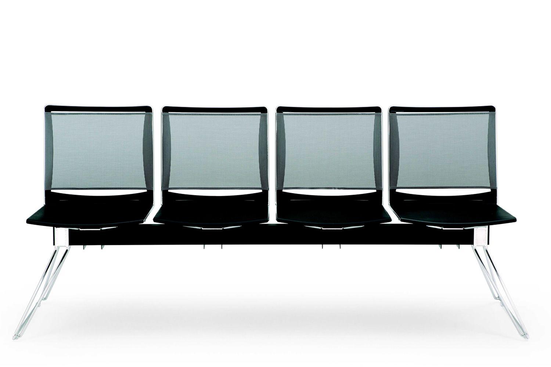 ml177 panca banc de salle d 39 attente assises en plastique et dossiet en filet disponibles en. Black Bedroom Furniture Sets. Home Design Ideas
