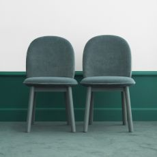 Ace - Normann Copenhagen wooden chair, padded seat, different upholsteries and colors available