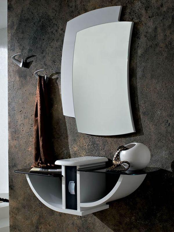 pa164 - mobile ingresso con specchio e appendini, disponibile in ... - Mobili Ingresso Kartell