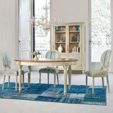 Apogeo 1126 - Table classique Tonin Casa en bois, différentes coloris et pieds disponibles, 160 x 110 cm allongeable
