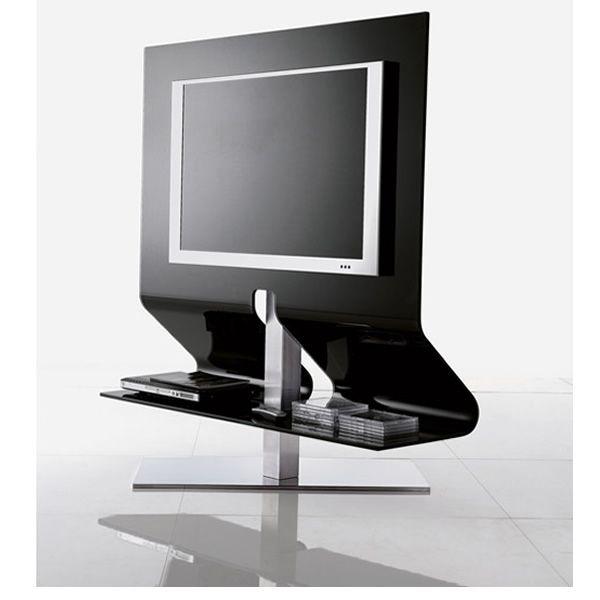 Odeon 7098 porta tv tonin casa in vetro curvato e - Casa in acciaio e vetro ...