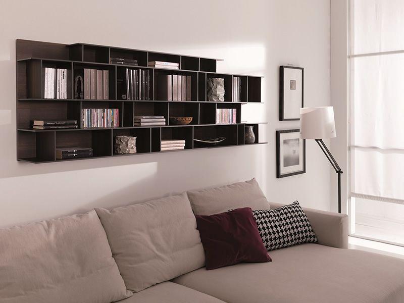 byblos o biblioth que murale modulaire en bois diff rentes couleurs sediarreda. Black Bedroom Furniture Sets. Home Design Ideas