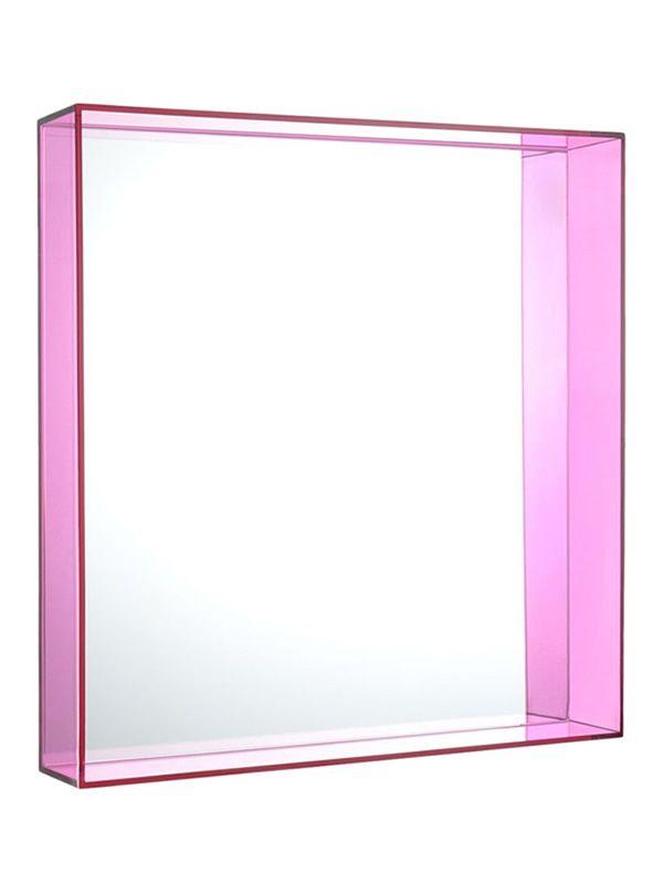 Only me miroir kartell de design avec cadre en polym re for Miroir only me l50 x h70 cm kartell