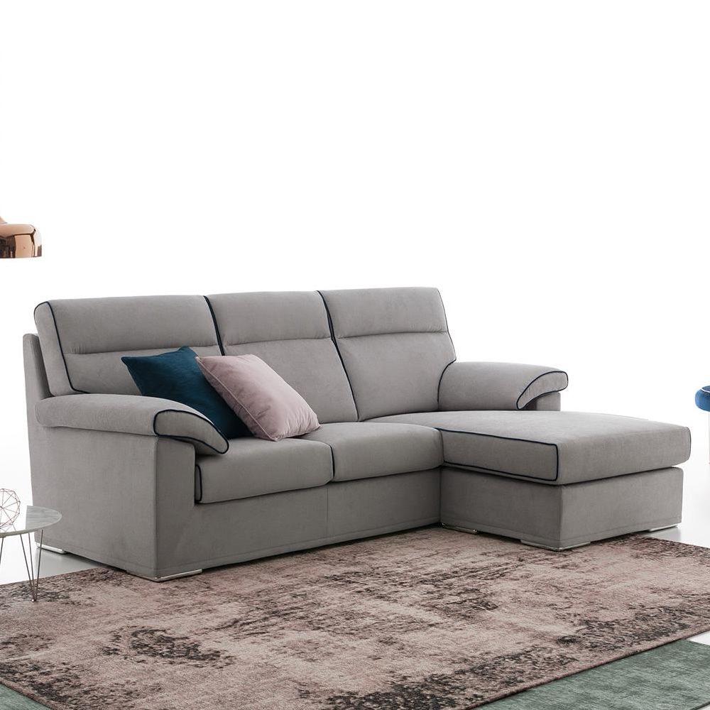 devis p 3 sitzer sofa mit chaiselongue ganz abziehbar in verschiedenen bez gen und farben. Black Bedroom Furniture Sets. Home Design Ideas